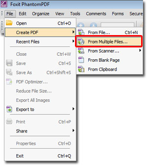 Combine Multiple Files into one PDF using Foxit PhantomPDF