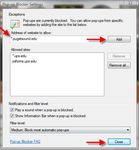 how to turn off pop up blocker in windows 100
