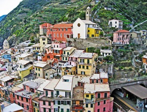 "1st Place - Places - Adam Moulton ""The Colors of Vernazza"" Vernazza, Italy"