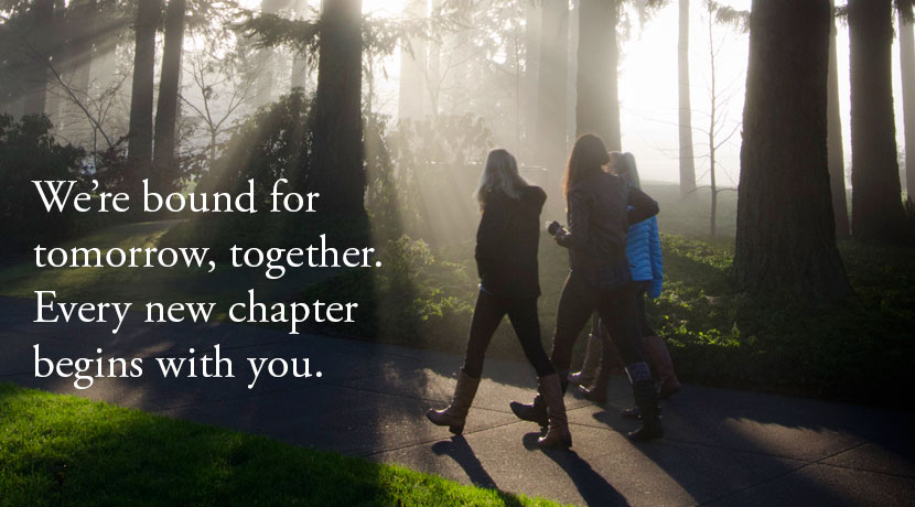 We're bound for tomorrow, together. Every new chapter begins with you.