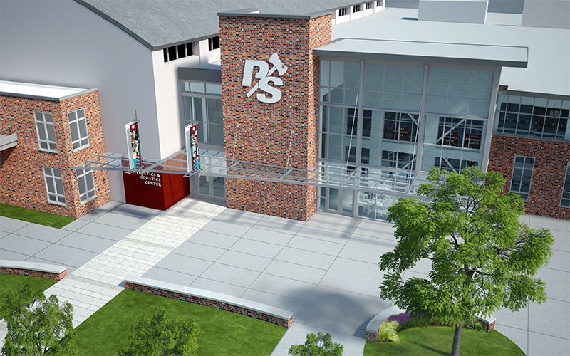 Athletics and Aquatics Center rendering