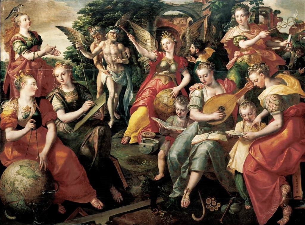 Maerten de Vos. Allegory of the Seven Liberal Arts. 1590. Oil on Oak Panel. Wikimedia Commons.