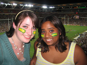 "Honorable Mention - UPS Students Abroad - Cara Munson ""Honorary Aussies"" Anzac Test Rugby Game, Australia"