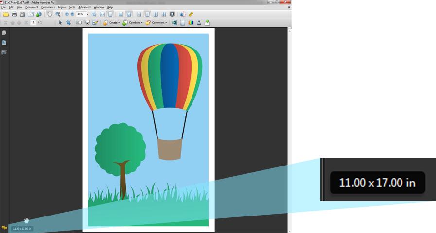 Screenshot of PDF showing enlargement of lower left corner of window.