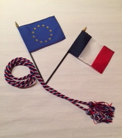 French and European Union flags
