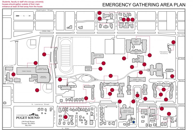 emergency gathering areas