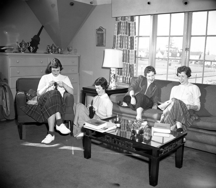Each of the four sororities had a chapter room on the second floor.