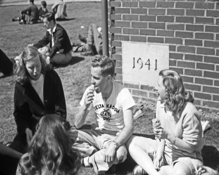 Kittredge Hall's cornerstone was laid on November 14, 1941.