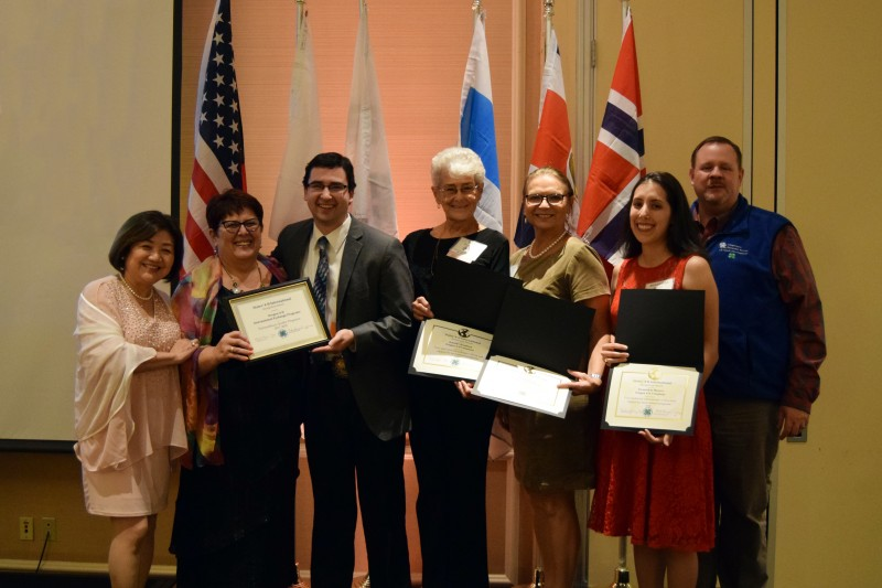 Last year, Alexandria Galvan Maurer '07 (second from right), a local volunteer coordinator for the States' 4-H International Exchange Program in Oregon, received a Recognition award at the State's 4-H International Exchange Conference.