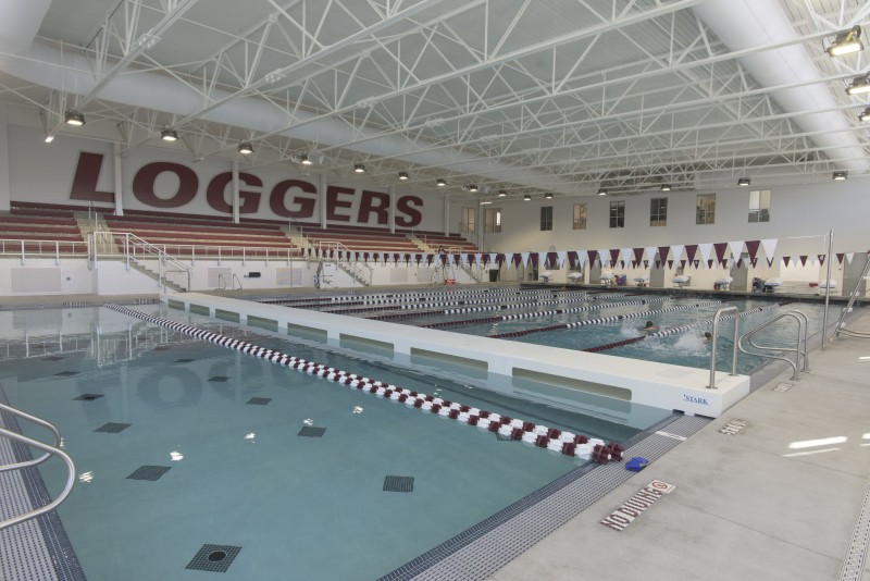 New pool in the Athletics and Aquatics Center