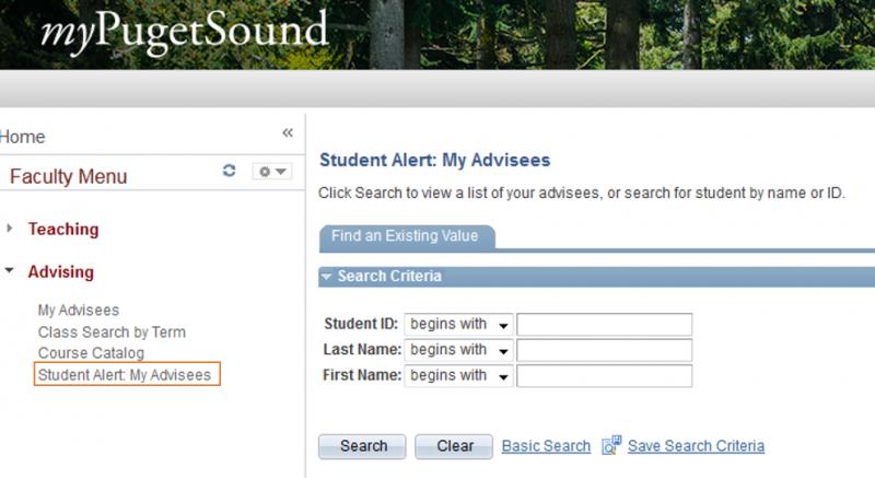 Student Alert My Advisees