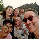 Professor Gareth Barkin and students in Indonesia