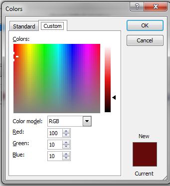 Maroon RGB values