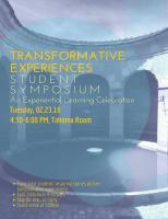 Flyer for 2016 Spring Symposium