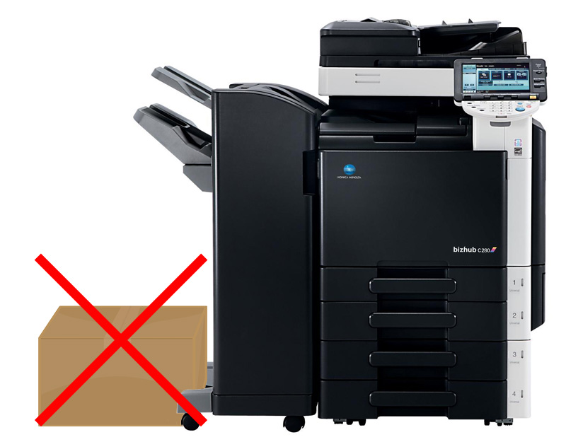 no objects under copier finishers