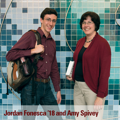 Jordan Fonseca '18 and Associate Professor Amy Spivey