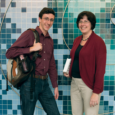 Associate Professor Amy Spivey and Jordan Fonseca '18