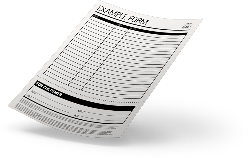 an example of a form that has a perforated section