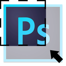Adobe Photoshop CC icon with cropped selection