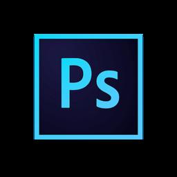 Adobe Photoshop CC icon with arrows indicating resizing