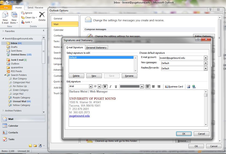 Outlook screen capture