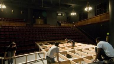 Set build on stage