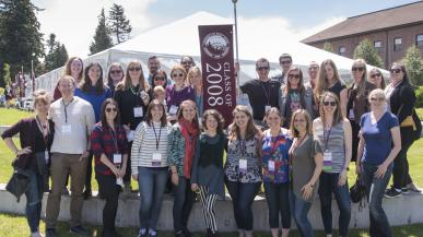 Group of alumni at Summer Reunion Weekend