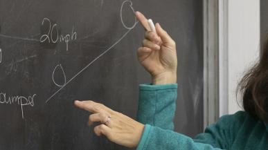Prof. Rachel Pepper teaching a class