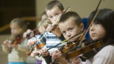 Students in the community music program