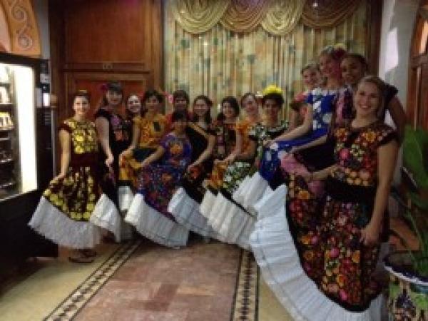 Women wearing traditional dress
