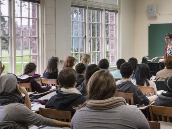 Students in a classroom setting