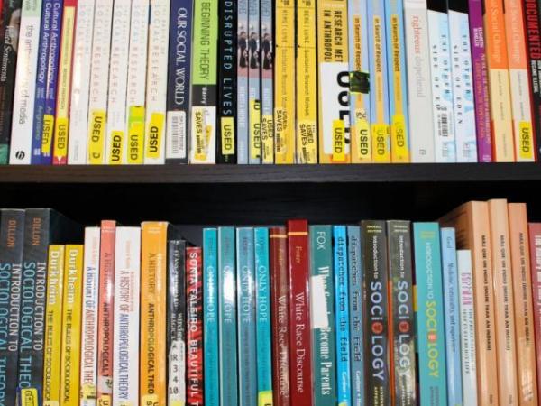 Books in the lending library